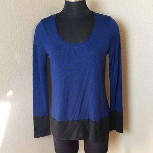 Vince Color Block Blouse Long Sleeve